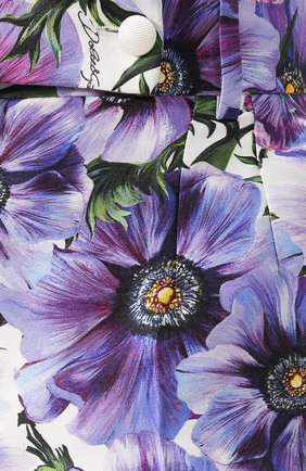 Женские шорты из смеси хлопка и шелка DOLCE & GABBANA сиреневого цвета, арт. FTBPZT/HSM2W   Фото 5