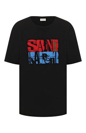 Женская хлопковая футболка SAINT LAURENT разноцветного цвета, арт. 614279/YBRW2 | Фото 1