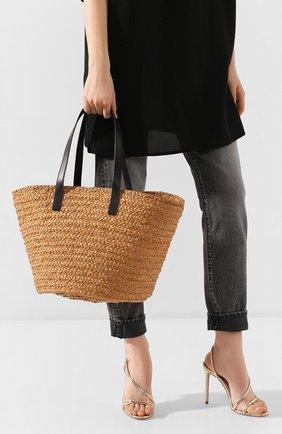Женская сумка panier SAINT LAURENT бежевого цвета, арт. 579521/GQTHJ | Фото 2