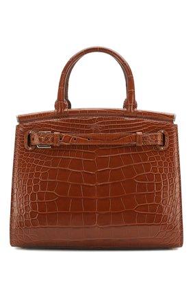 Женская сумка rl50 large из кожи аллигатора RALPH LAUREN бежевого цвета, арт. 435769042/AMIS | Фото 1