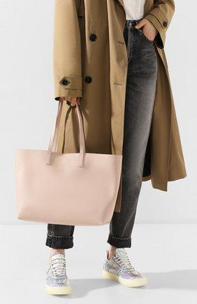 Женская сумка-тоут shopping large SAINT LAURENT светло-розового цвета, арт. 600281/CSV0J | Фото 2