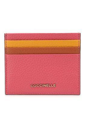 Женский кожаный футляр для кредитных карт COCCINELLE розового цвета, арт. E2 FW5 12 95 01 | Фото 1