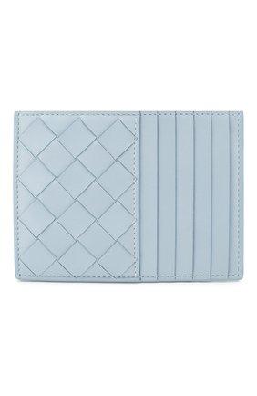 Женский кожаный футляр для кредитных карт BOTTEGA VENETA голубого цвета, арт. 608088/VCPP3 | Фото 1