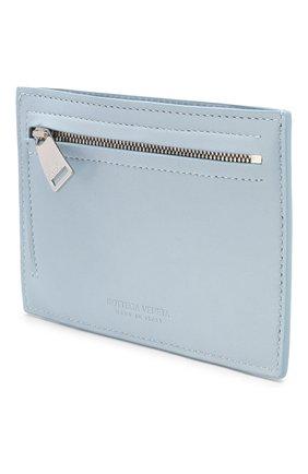 Женский кожаный футляр для кредитных карт BOTTEGA VENETA голубого цвета, арт. 608088/VCPP3 | Фото 2