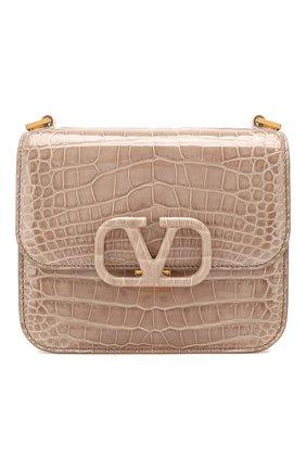 Женская сумка valentino garavani vsling small из кожи аллигатора VALENTINO темно-бежевого цвета, арт. TW2B0F01/XDE/AMIS | Фото 1