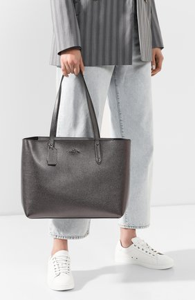 Женская сумка-тоут central COACH темно-серого цвета, арт. 79572 | Фото 2