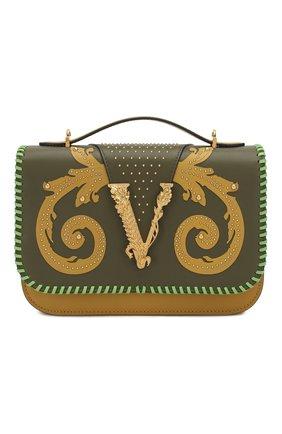 Женская сумка virtus VERSACE хаки цвета, арт. DBFG985/DVRBB | Фото 1