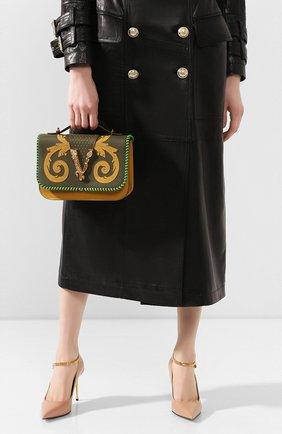 Женская сумка virtus VERSACE хаки цвета, арт. DBFG985/DVRBB | Фото 2
