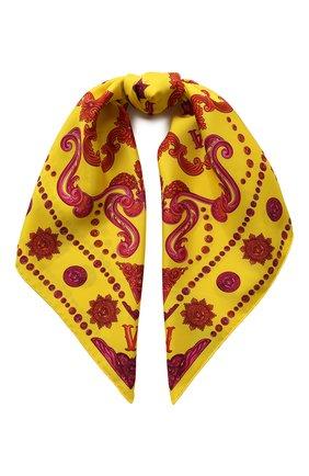 Женский шелковый платок VERSACE желтого цвета, арт. IF09001/A233148 | Фото 1