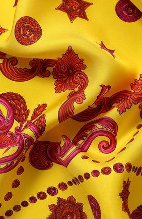 Женский шелковый платок VERSACE желтого цвета, арт. IF09001/A233148 | Фото 2