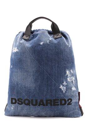 Женский рюкзак DSQUARED2 синего цвета, арт. BPW0010 10102582   Фото 1
