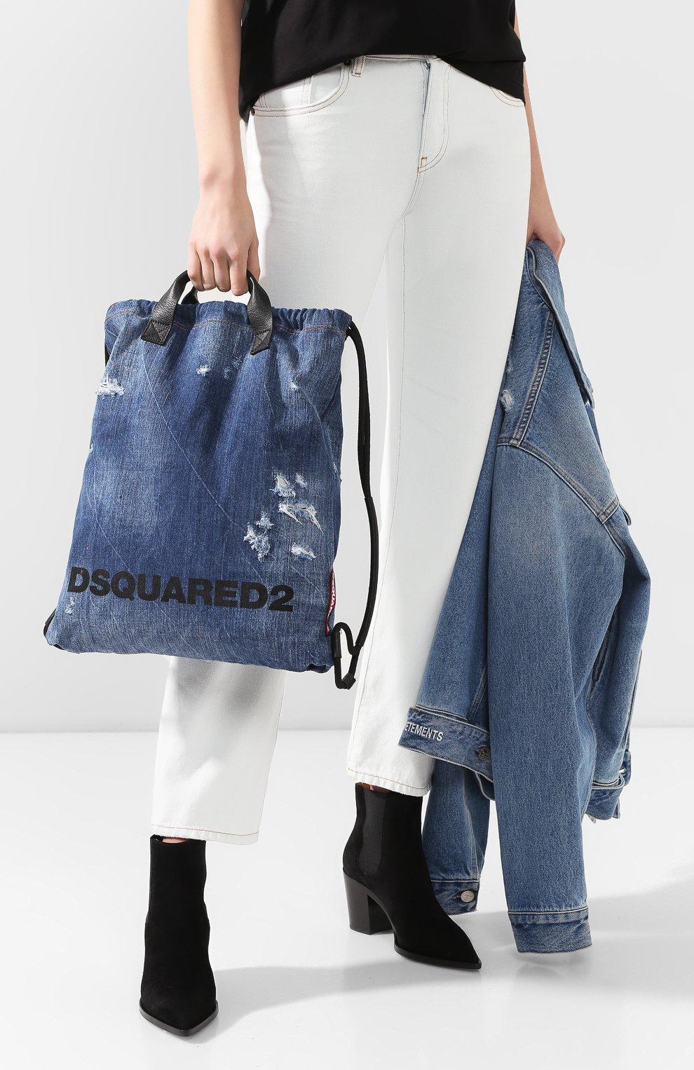 Женский рюкзак DSQUARED2 синего цвета, арт. BPW0010 10102582   Фото 2