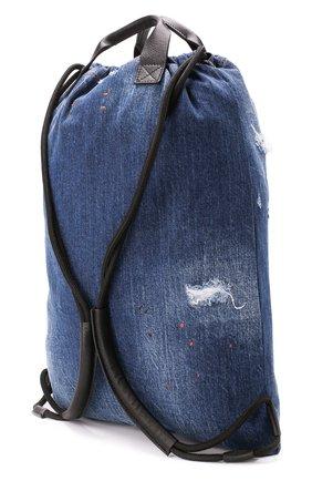 Женский рюкзак DSQUARED2 синего цвета, арт. BPW0010 10102582   Фото 3