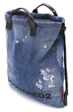 Женский рюкзак DSQUARED2 синего цвета, арт. BPW0010 10102582   Фото 4