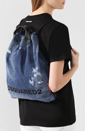 Женский рюкзак DSQUARED2 синего цвета, арт. BPW0010 10102582   Фото 5