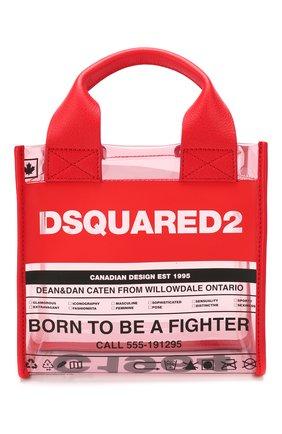 Женская сумка-шопер DSQUARED2 красного цвета, арт. SPW0024 35702583 | Фото 1