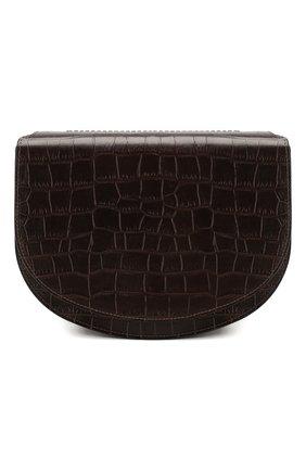 Женская сумка DRIES VAN NOTEN темно-коричневого цвета, арт. 201-31513-356 | Фото 1