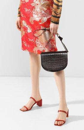 Женская сумка DRIES VAN NOTEN темно-коричневого цвета, арт. 201-31513-356 | Фото 2