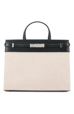Женская сумка manhattan small SAINT LAURENT кремвого цвета, арт. 568702/HZD2N | Фото 1