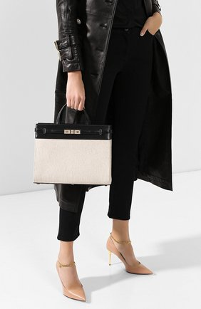 Женская сумка manhattan small SAINT LAURENT кремвого цвета, арт. 568702/HZD2N | Фото 2