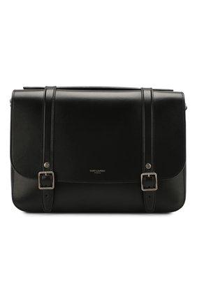 Женская сумка schoolbag SAINT LAURENT черного цвета, арт. 591542/1N20D | Фото 1
