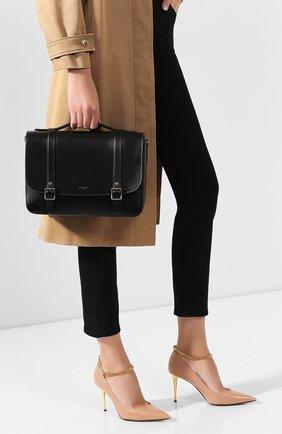 Женская сумка schoolbag SAINT LAURENT черного цвета, арт. 591542/1N20D | Фото 2