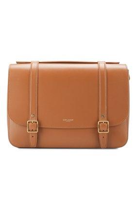 Женская сумка schoolbag SAINT LAURENT коричневого цвета, арт. 591542/1N20W | Фото 1