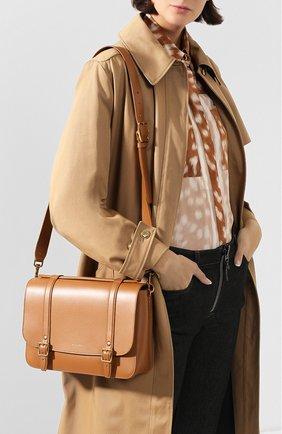 Женская сумка schoolbag SAINT LAURENT коричневого цвета, арт. 591542/1N20W | Фото 2