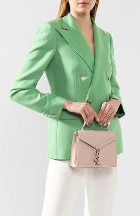 Женская сумка cassandra mini SAINT LAURENT светло-розового цвета, арт. 602716/B0W0N | Фото 2
