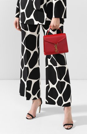 Женская сумка cassandra mini SAINT LAURENT красного цвета, арт. 602716/B0W0W | Фото 2