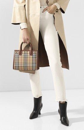 Женская сумка title small BURBERRY бежевого цвета, арт. 8025267   Фото 2