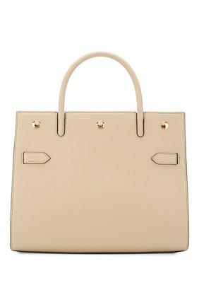 Женская сумка title BURBERRY бежевого цвета, арт. 8024689 | Фото 1 (Материал: Натуральная кожа; Сумки-технические: Сумки top-handle; Размер: medium)