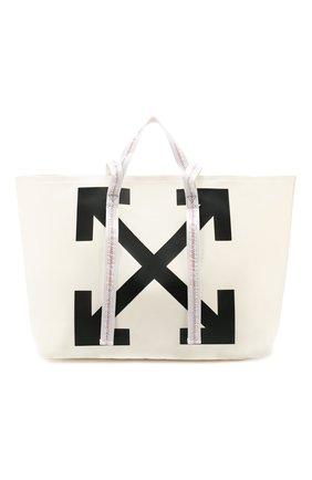 Женская сумка-тоут OFF-WHITE белого цвета, арт. 0WNA094R20B640710210 | Фото 1