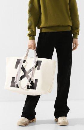 Женская сумка-тоут OFF-WHITE белого цвета, арт. 0WNA094R20B640710210 | Фото 2