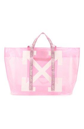 Женская сумка-тоут OFF-WHITE розового цвета, арт. 0WNA094R20H070712701 | Фото 1