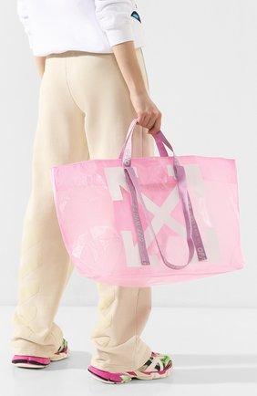 Женская сумка-тоут OFF-WHITE розового цвета, арт. 0WNA094R20H070712701 | Фото 2