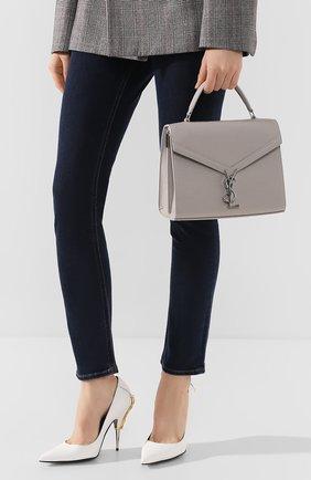 Женская сумка cassandra medium SAINT LAURENT светло-серого цвета, арт. 578000/B0W0N | Фото 2