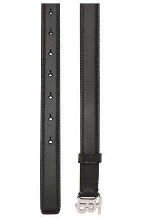 Женский кожаный ремень BURBERRY черного цвета, арт. 8023440 | Фото 2