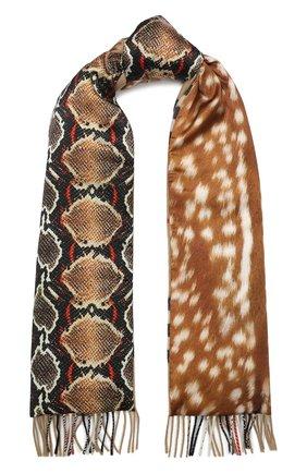 Мужские кашемировый шарф BURBERRY разноцветного цвета, арт. 8025257 | Фото 1