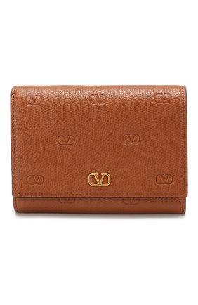 Женские кожаное портмоне valentino garavani vsky VALENTINO коричневого цвета, арт. TW2P0T34/GFP | Фото 1