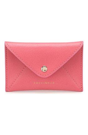 Женский кожаный футляр для кредитных карт COCCINELLE розового цвета, арт. E2 F65 12 83 05 | Фото 1