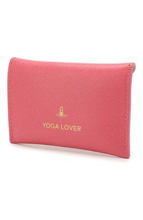 Женский кожаный футляр для кредитных карт COCCINELLE розового цвета, арт. E2 F65 12 83 05 | Фото 2