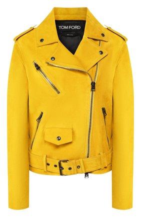 Женская замшевая куртка TOM FORD желтого цвета, арт. CSL649-LEX226 | Фото 1