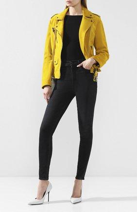 Женская замшевая куртка TOM FORD желтого цвета, арт. CSL649-LEX226 | Фото 2