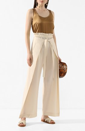 Женские шерстяные брюки CULT GAIA белого цвета, арт. 52017M04 CRM | Фото 2
