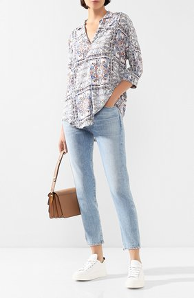 Женская блузка из вискозы PIETRO BRUNELLI разноцветного цвета, арт. CA0207/VI0058 | Фото 2