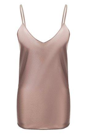Женская шелковый топ COTTON CLUB коричневого цвета, арт. 7ZM | Фото 1