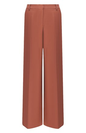 Женские шерстяные брюки YVES SALOMON коричневого цвета, арт. 20EYP013XXW0XW | Фото 1