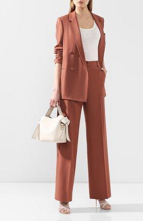 Женские шерстяные брюки YVES SALOMON коричневого цвета, арт. 20EYP013XXW0XW | Фото 2