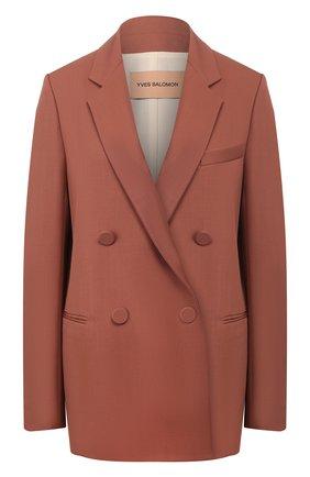 Женский шерстяной жакет YVES SALOMON коричневого цвета, арт. 20EYV01272W0XW | Фото 1